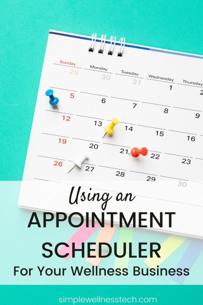 Using an appointment scheduler