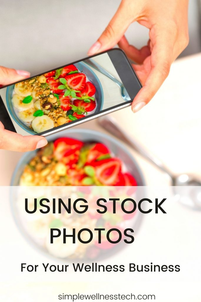 Using stock photos for your wellness business